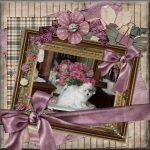 Shilo coton collage with frames, flowers and clothes